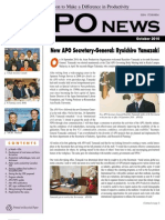 Asian Productivity Organization (APO) Monthly Newsletter – October 2010
