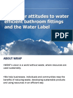 Summary Consumer Insight Research Findings Into Water Using Products