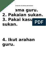 Peraturan di taman permainan.doc