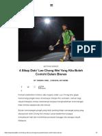 4 Sikap Dato' Lee Chong Wei Yang Kita Boleh Contohi Dalam Bisnes - Tukang Fikir