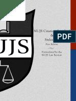 NUJS Citation Standard 1st Edition