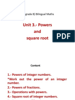 Unit 3 Powers and Square Root