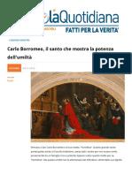 Carlo Borromeo, Il Santo Che Mostra La Potenza Dell'Umilta