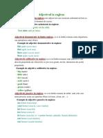 Adjectivul in Engleza (Teorie Lb Romana)