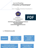 Journal Reading Aspirin for Prevention of Preeclampsia