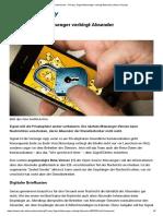 Druckversion - Privacy_ Signal-Messenger Verbirgt Absender _ Heise Security