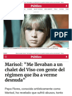 Marisol Me Llevaban a Un Chalet Del Viso Con Gente Del Régimen