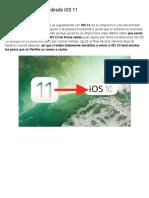 Como Volver a IOS 10 Desde IOS 11
