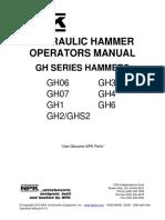 NPK Hydraulic Hammer Operators Manual