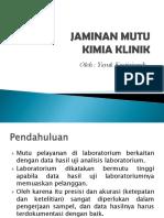 Jaminan Mutu Kimia Klinik
