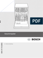 Spülmschiene Bosch Bedienungsanleitung