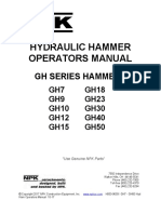 NPK Hydraulic Hammer Operators Manual GH7-GH50
