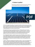 Assolti Manager Fotovoltaico Il Solare è Pulito! Era Tutto Regolare