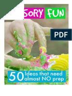 50 ideas sensory no prep