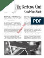The Kerberos Club Quick Start