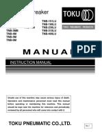 Toku Hydraulic Hammer Instructional Manual