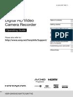 Digital HD Video HDR-GW55VE/GW77E/GW77VE SONY