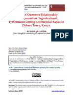 Effect of Customer Relationship Management on Organizational Performance Among Commercial Banks in Eldoret Town
