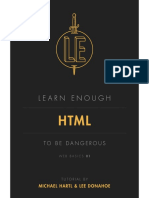 Learn Enough HTML to Be Dangerous