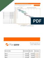 Diagramme Gantt Modele Excel Planzone