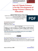 The Nature of Climate Science Challenges for the Development of Climate Change Science Literacy in Education