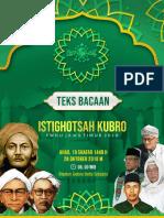Bacaan Doa Istighotsah Kubro 28 Oktober 2018