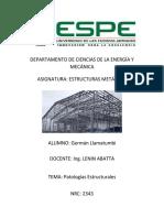 Carátula Estructuras Mecánicas