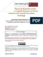 Financial Expertise and Capital Structure