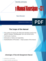 Penyusunan Manual Kearsipan