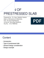 Design of Prestressed Slab Latest