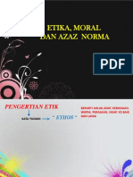 Etika, Moral,Azaz Norma 1