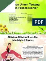 Tinjauan Umum Tentang Proses-Proses Bisnis