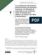 La Contribución Del Sistema Interamericano de Derechos Humanos a La Libertad de Expresión en Las Américas_ Mirar El Pasado Para Edificar Un Futuro Más Librey Democrático