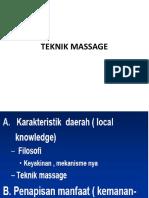 4 Teknik Massage