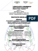 Proyecto Escolar Ajedrez (Ultima Revisión) Membrillo