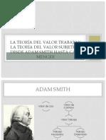 La teoría del valor trabajo y la teoría del valor subjetivo desde Adam Smith hasta Carl Menger