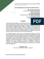 Nuevas Tecnologías Sustentables en La Arquitectura de Paisaje.
