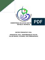 Perkembangan PolitikDalam Negeri, Ekonomi, Dan Pembangunan