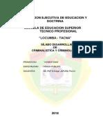 2018 Silabus Criminologia y Criminalistica -Honestidad