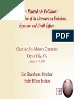 Lit Rev on Emissions Exposure and Health