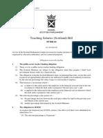 SPB064 - Teaching Salaries (Scotland) Bill 2018