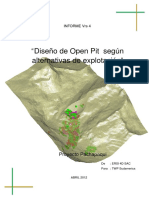 Diseño de Open Pit segun alternativas de explotacion