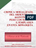 Crónica moralizada del orden de San Agustín en el Perú con sucesos ejemplares en esta monarquía