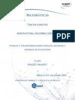 Unidad2.Transformaciones Lineales Matrices y Sistemas de Ecuaciones