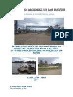4194 Informe de Evaluacion Del Riesgo Por Inundacion Pluvial en El Centro Poblado de Santa Lucia Distrito de Uchiza Provincia de Tocache Region San Martin