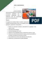 Estudios Geológicos y Geotecnicos