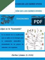 CLASE Clasificacion de Los Seres Vivos TAXONOMIA