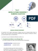 Modelo Atomico Moderno y Numeros Cuanticos