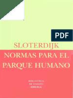 Sloterdijk Peter-normas Para El Parque Humano-biblioteca de Ensayo 11 Editorial Siruela-madrid-2006