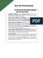 Privacy Policy Es ES